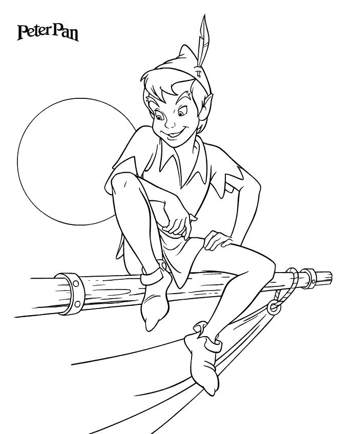 Miraculous story of a tiny boy Peter Pan 18 Peter Pan coloring