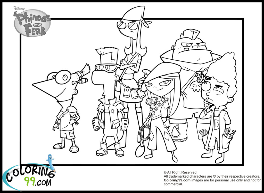 Coloring pages of phineas ferb by madison free printables for Phineas and ferb coloring pages printable