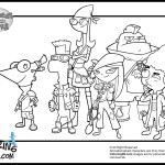 Science fiction adventure of two school boys Phineas and Ferb 20 Phineas and Ferb coloring pages