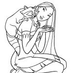 Mythical love story of an aborigines girl Pocahontas 18 Pocahontas coloring pages