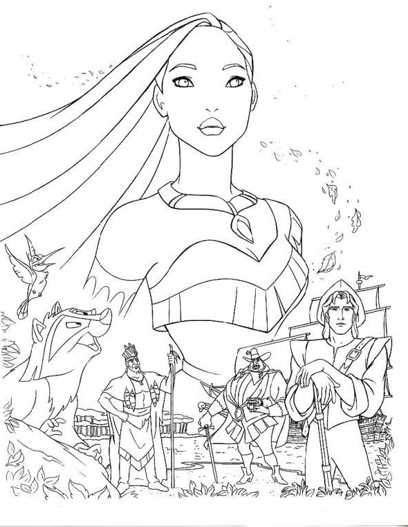 Disney's Pocahontas Coloring Pages | Disneyclips.com | 762x590