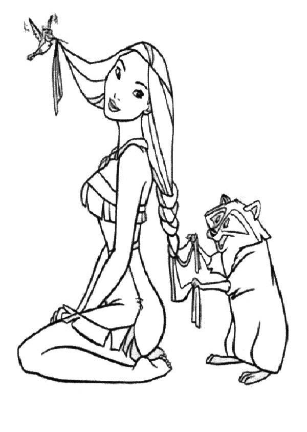 Pocahontas Coloring Pages From Landon