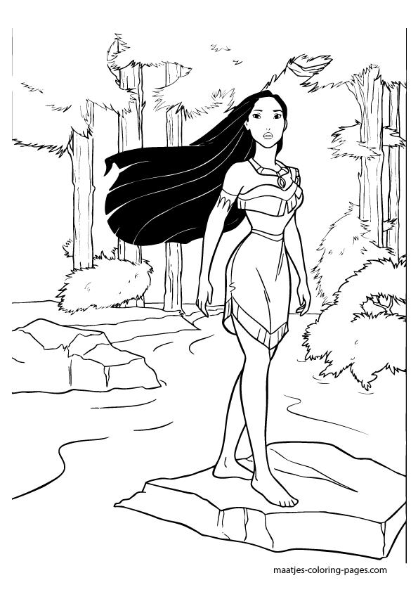 Pocahontas Print Coloring Page Free Printables