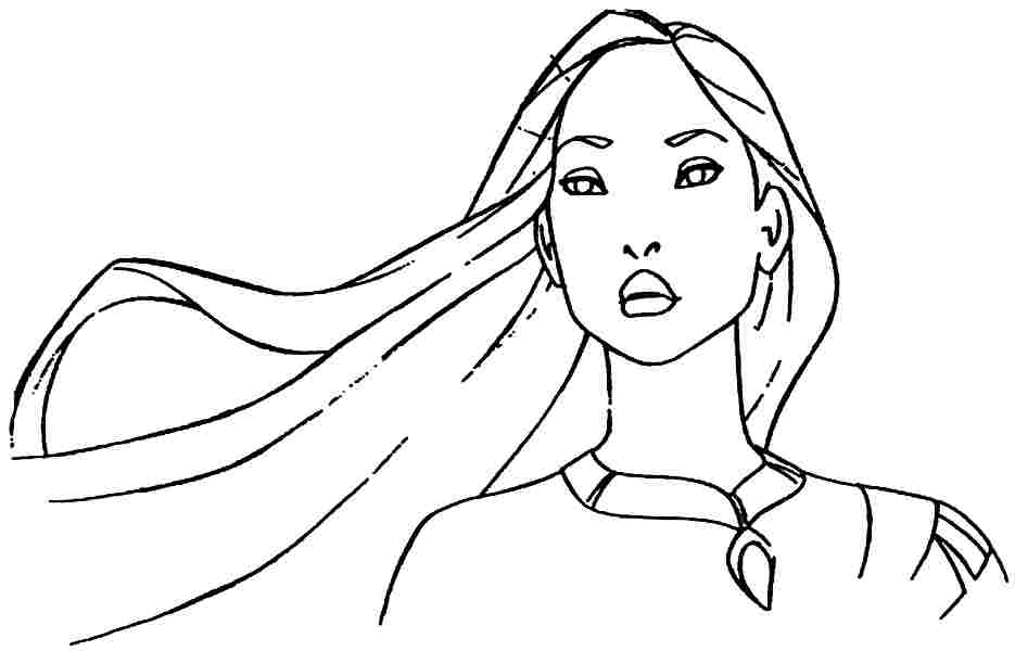 real pocahontas coloring pages - photo#33
