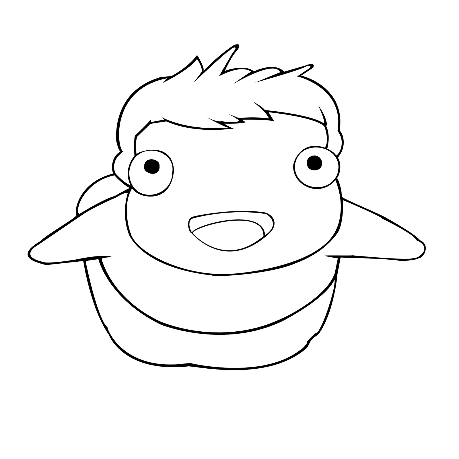 Coloring pages of ponyo by oliver free printables for Ponyo coloring pages