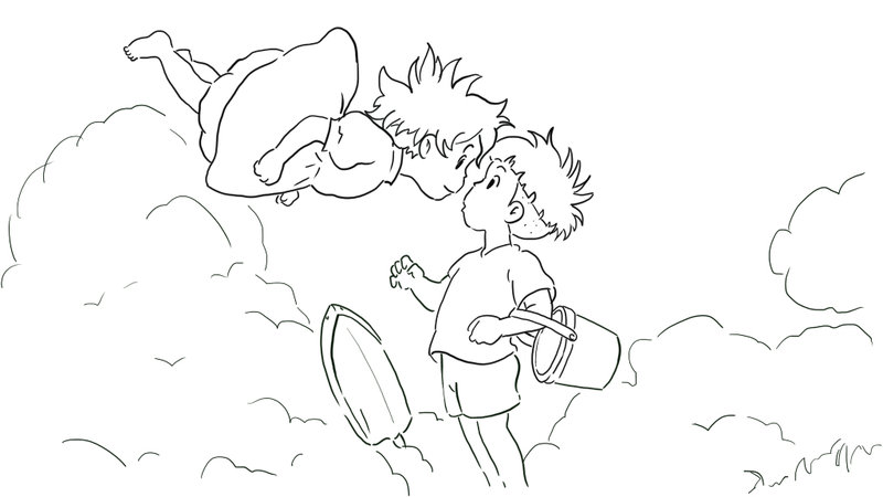 Ponyo coloring page for kids