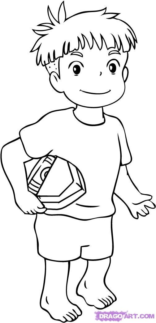 little Sosuke coloring page