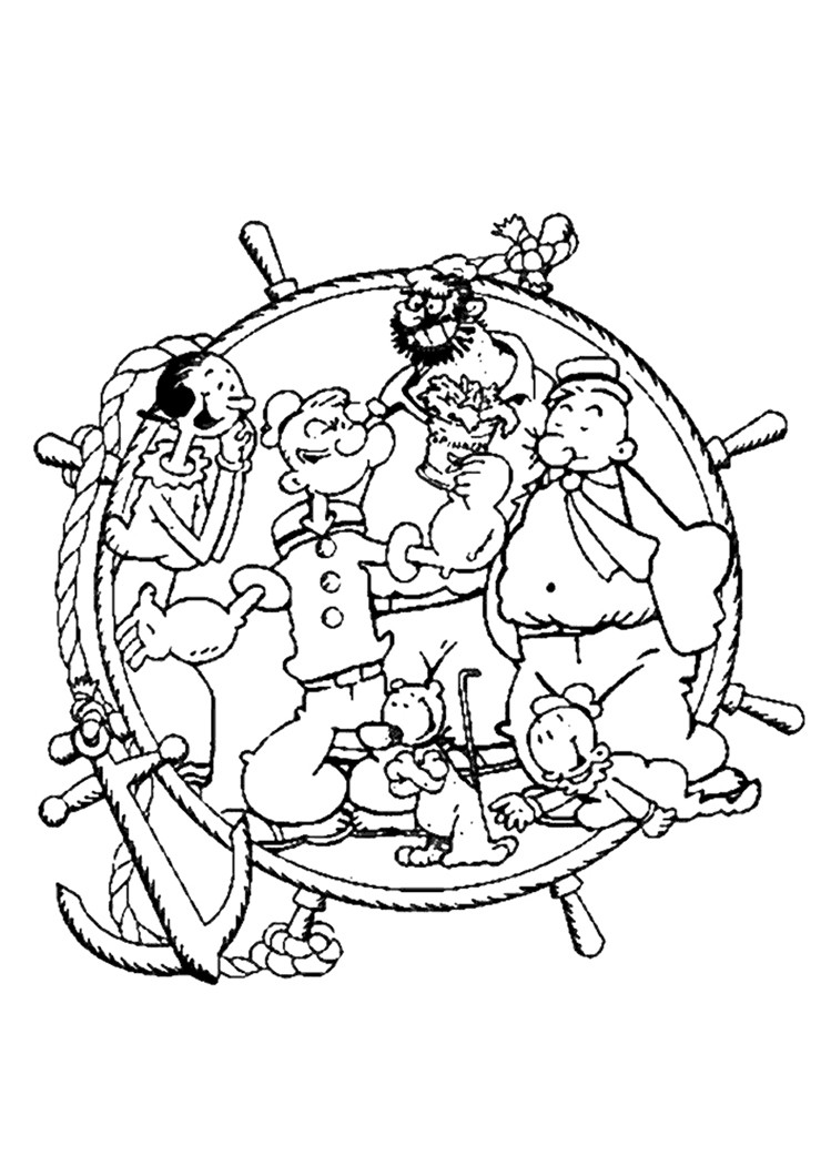 hilarious adventure of a sailor popeye 20 popeye coloring pages