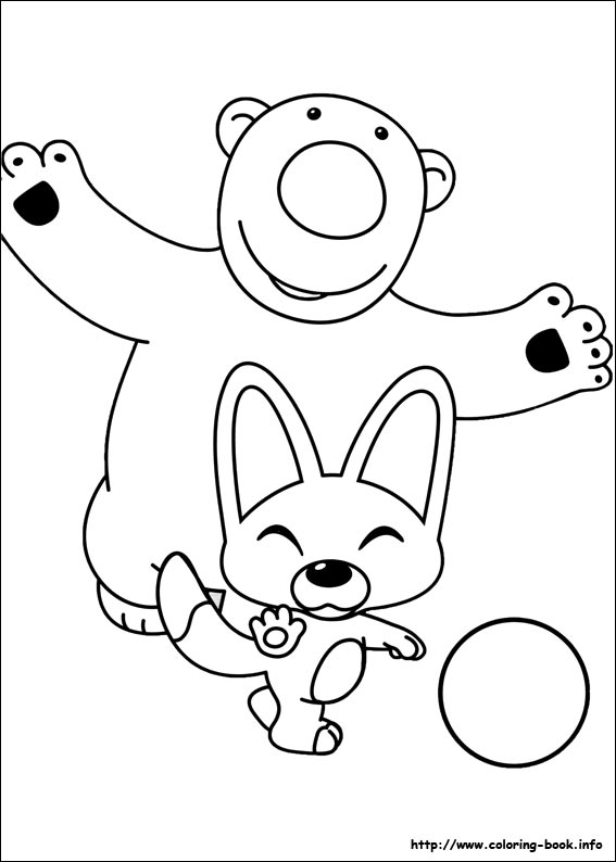 Coloring pages of pororo free printables for Pororo coloring pages