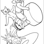 Thrilling adventure of a booted cat Puss in the Boots 18 Puss in the Boots coloring pages