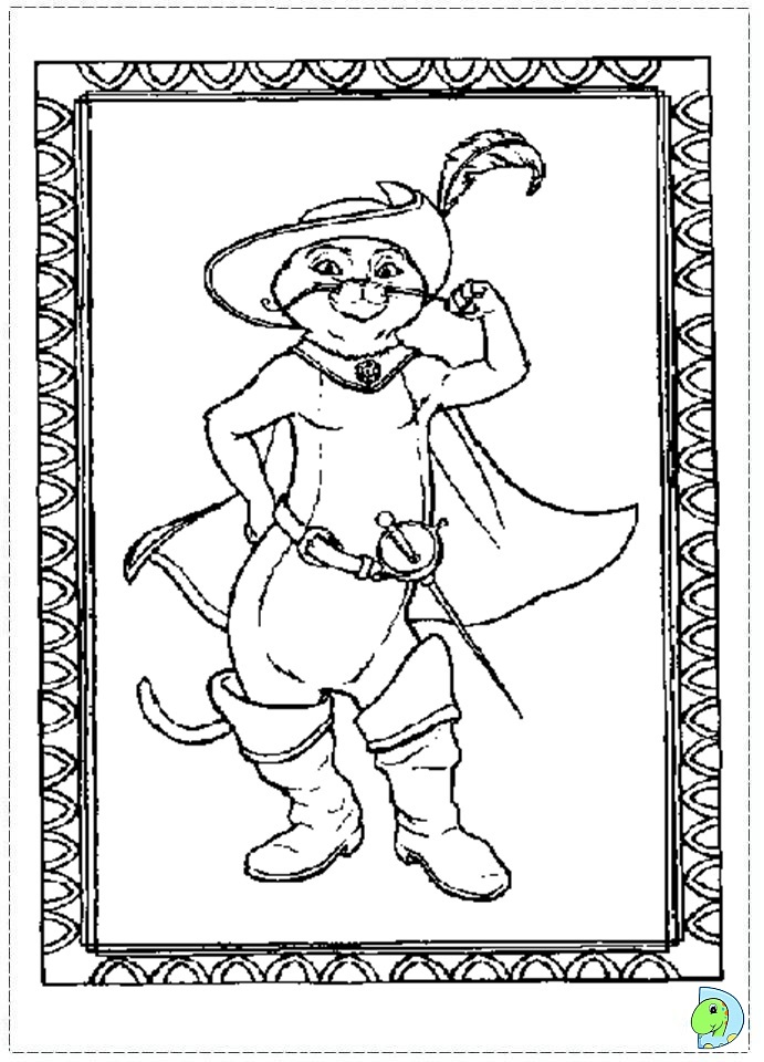 Puss In Boots Coloring Page - Coloring Home | 960x691