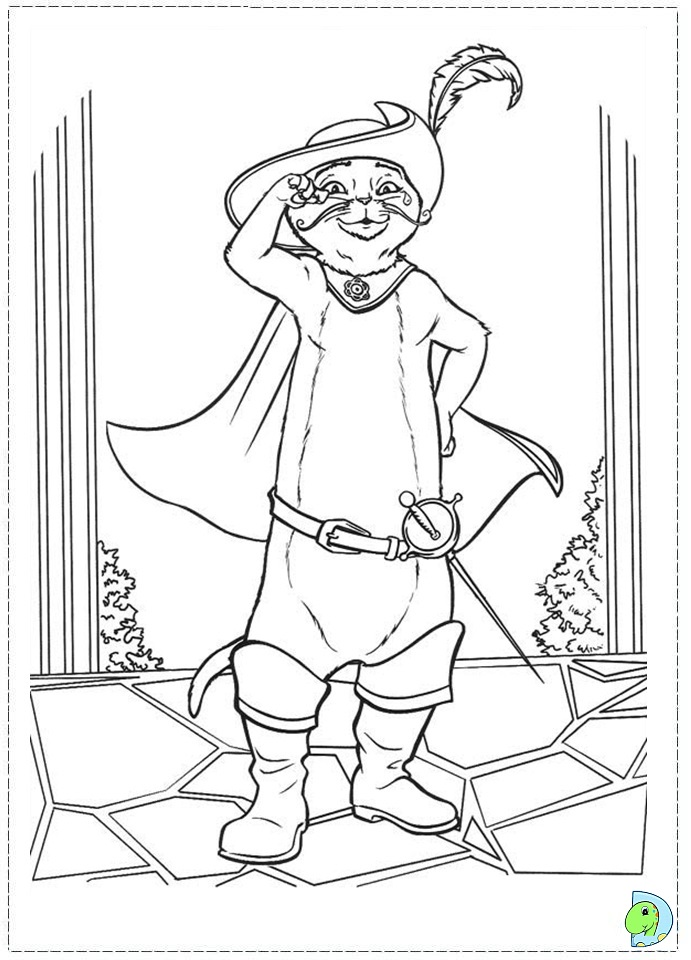 Puss in Boots coloring page | Coloring pages | 960x691