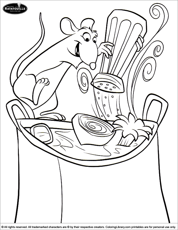 ratatouille coloring book pages - photo#33