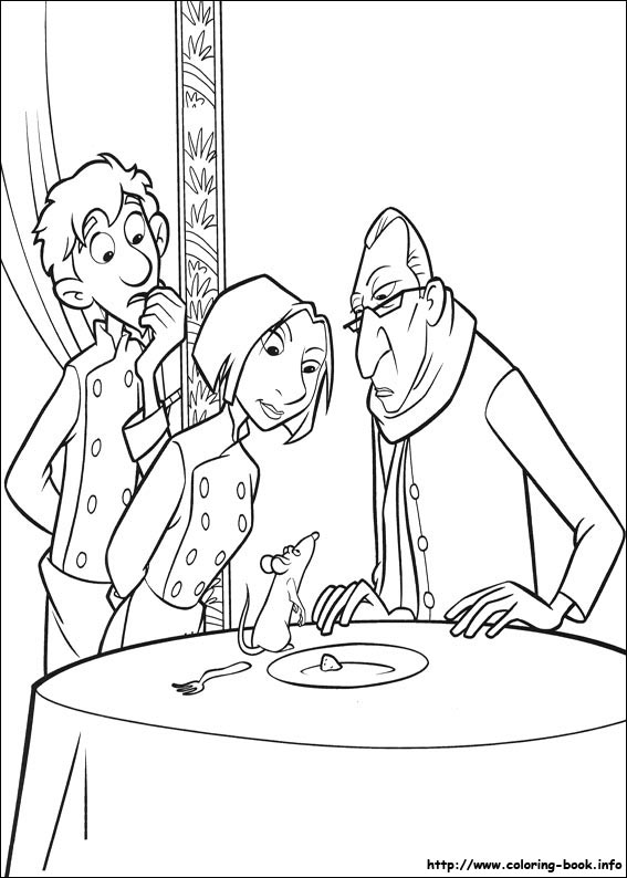 Story Of A Chef Rat Ratatouille 24 Coloring Pages