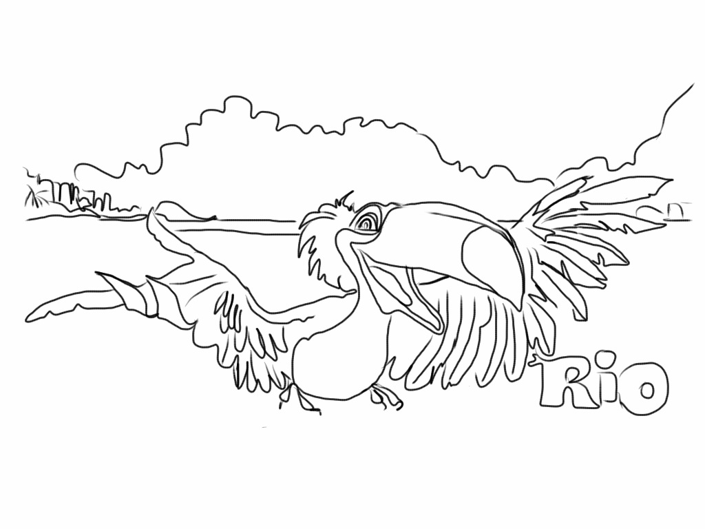rio pedro coloring pages - photo#9