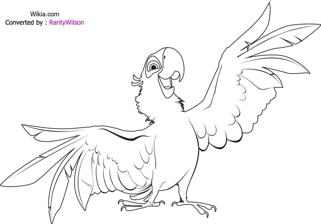 rio coloring pages chloe  Free Printables