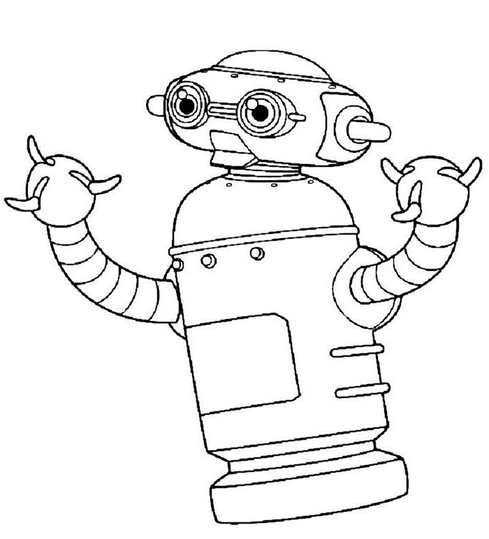robot printable coloring pages - action comedy adventure of a robot robot chicken 18 robot