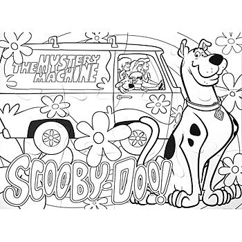 scooby doo coloring pages color PNG image with transparent ... | 350x350