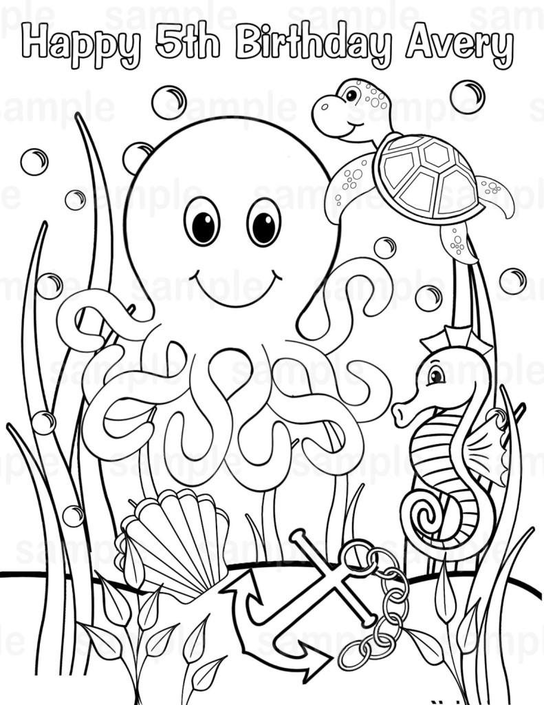 Sea Printable Page
