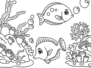 deep sea animals coloring pages - photo#24