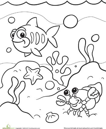 view from the sea coloring page