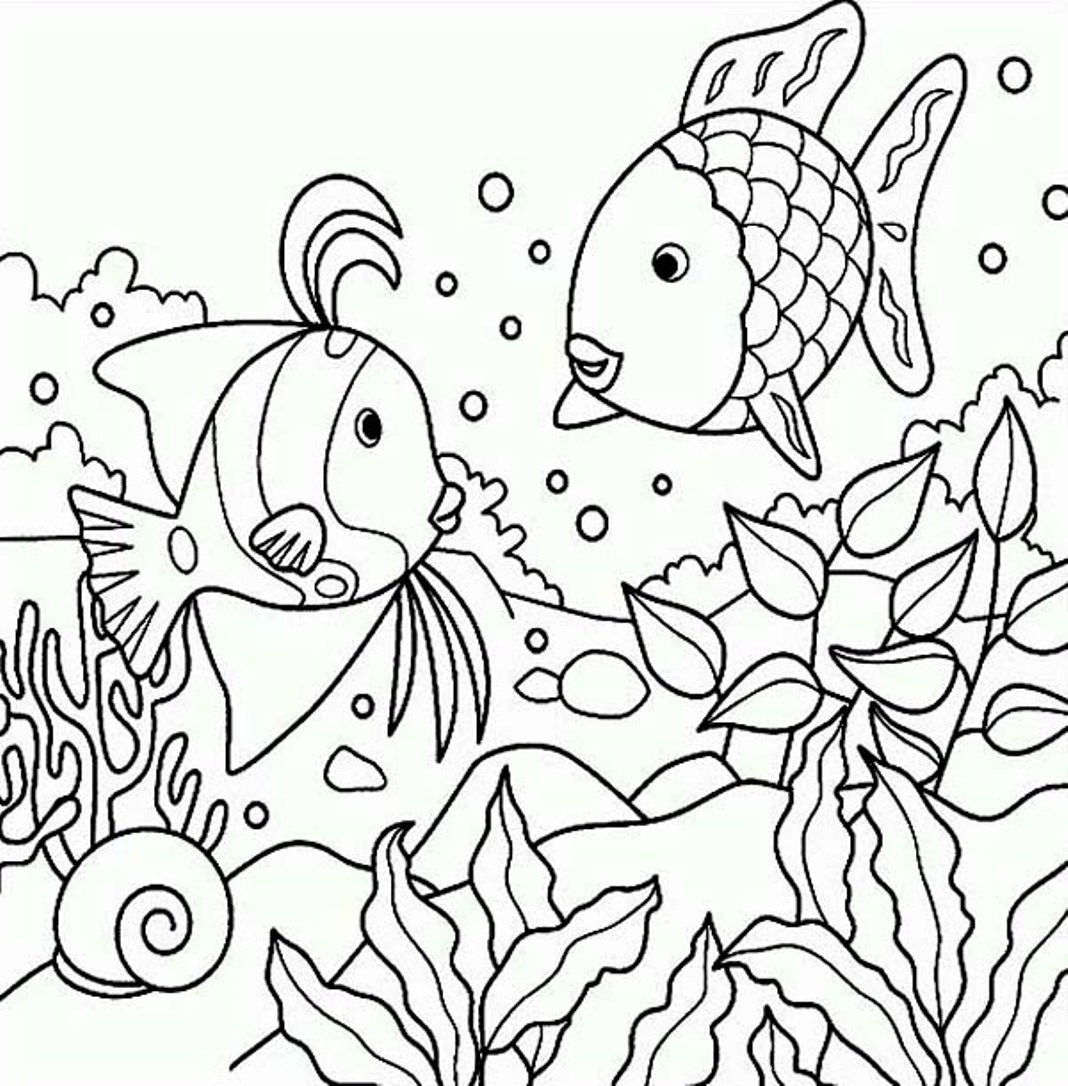 sea fishes coloring page
