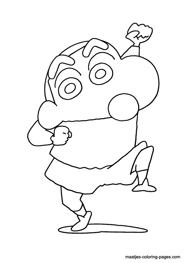 crazy Shinchan coloring page