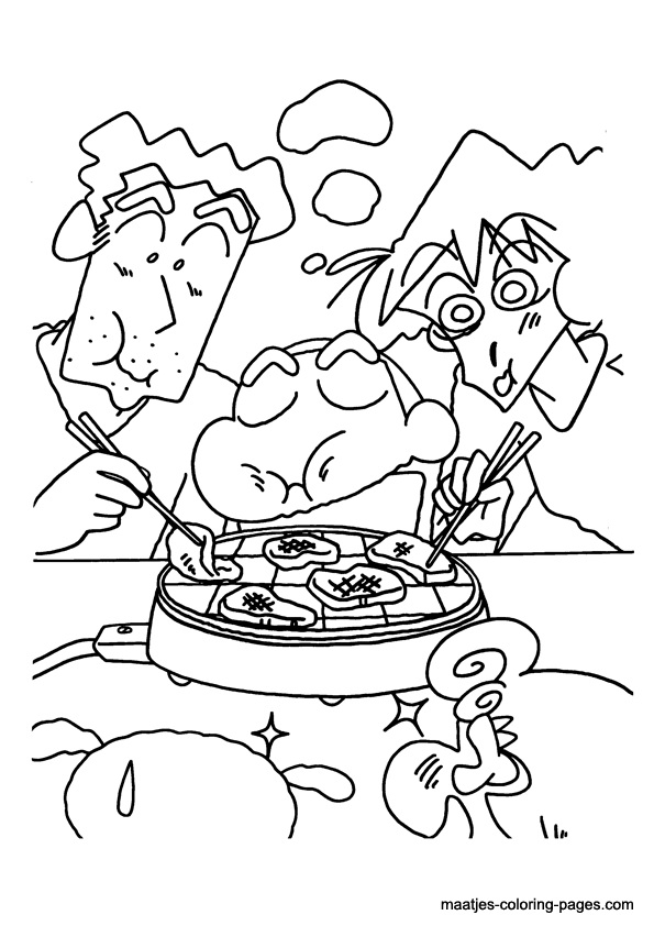 Shinchan coloring pictures added kaylee free printables for Shin chan coloring pages