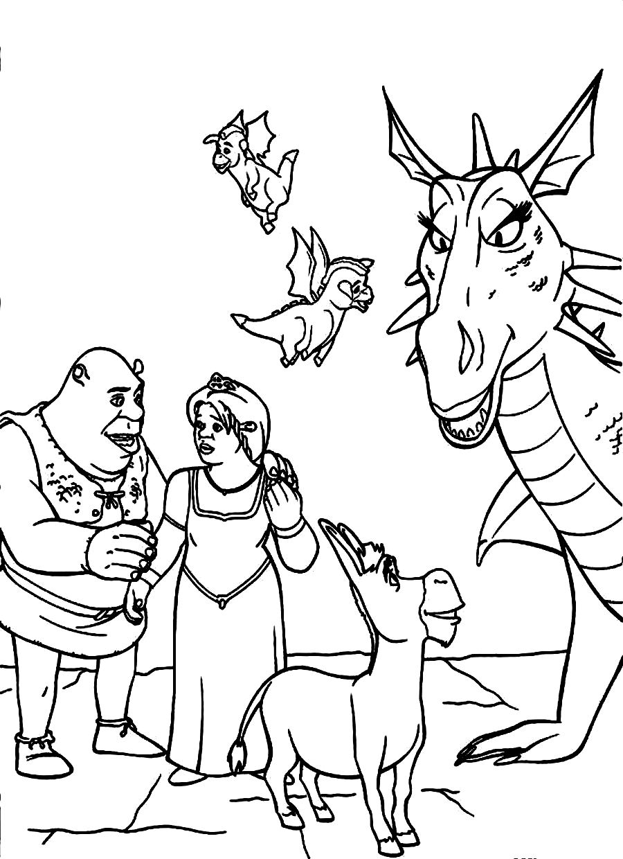 ogre baby shrek coloring pages - photo #20