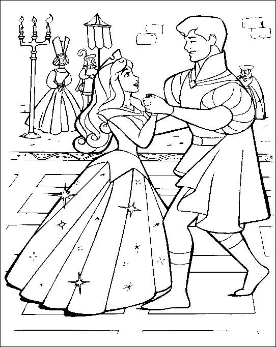 sleeping-beauty coloring sheets – Free Printables