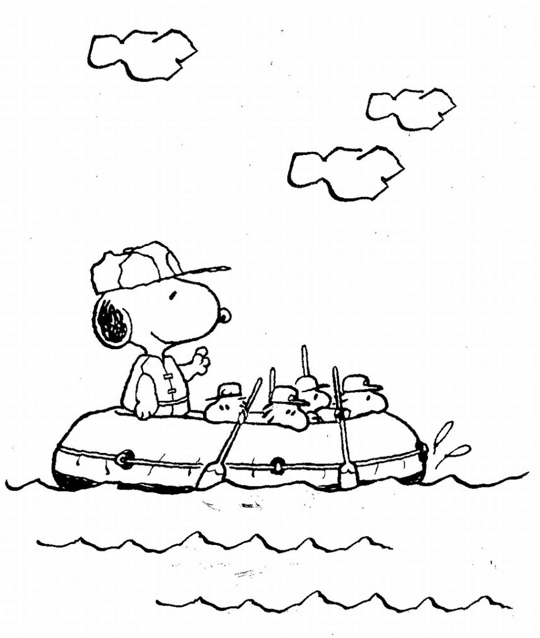 Snoopy on a boat