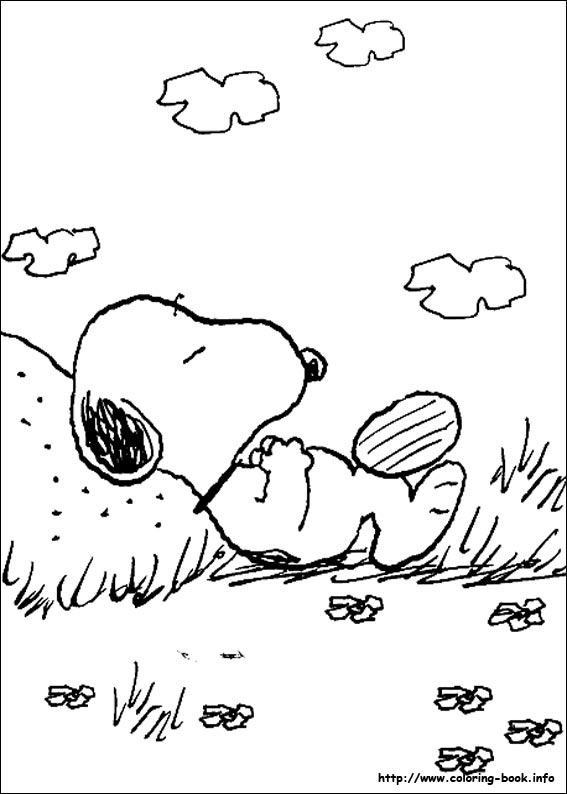 Snoopy sleeping quitely
