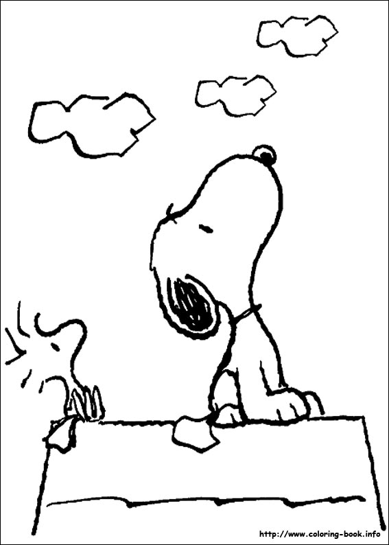 Snoopy looking at the sky