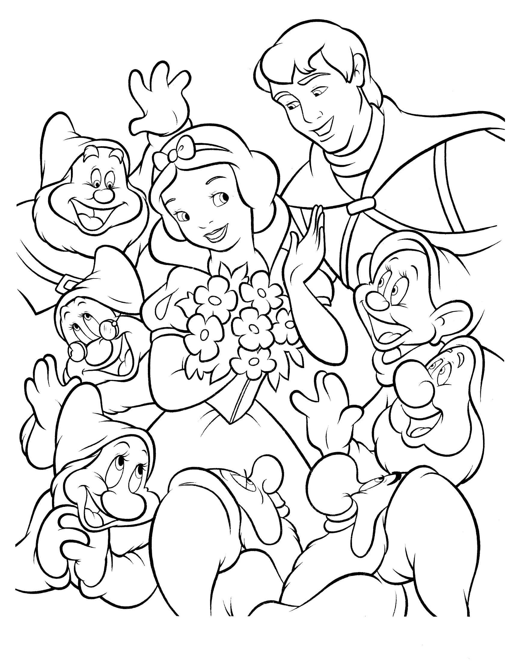 Snow White Coloring Pages For Your Lovely Daughters | Disney ... | 2200x1700