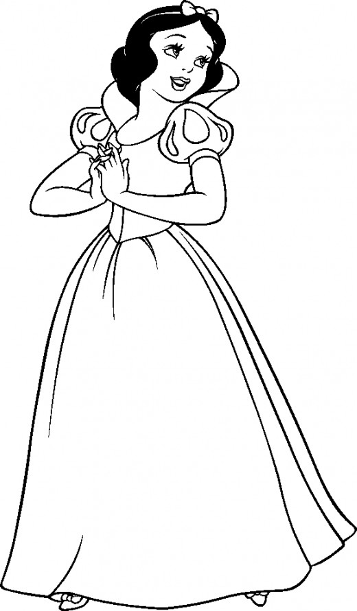 Snow white coloring pages jayden free printables for Snow white coloring pages