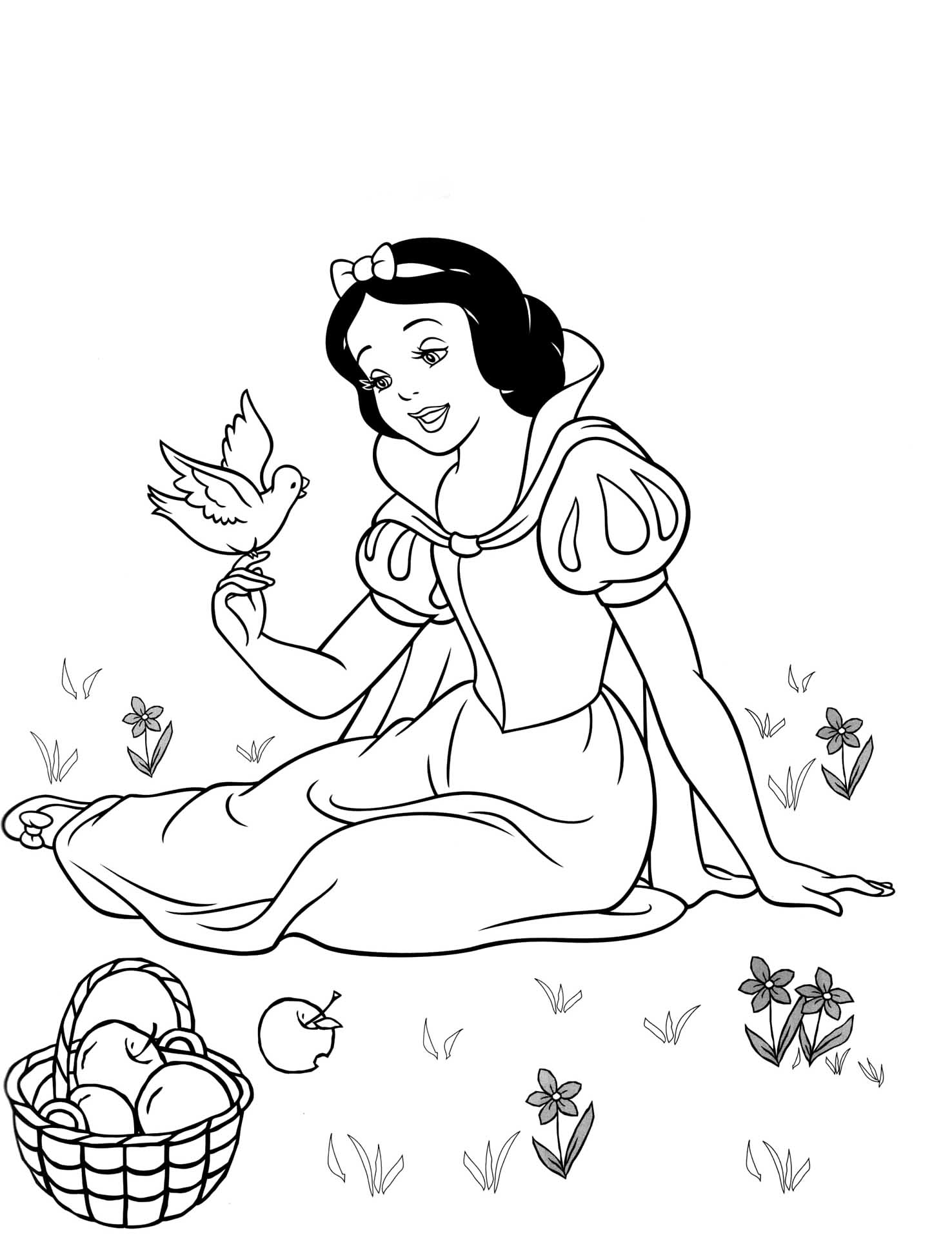 Snow White into the woods