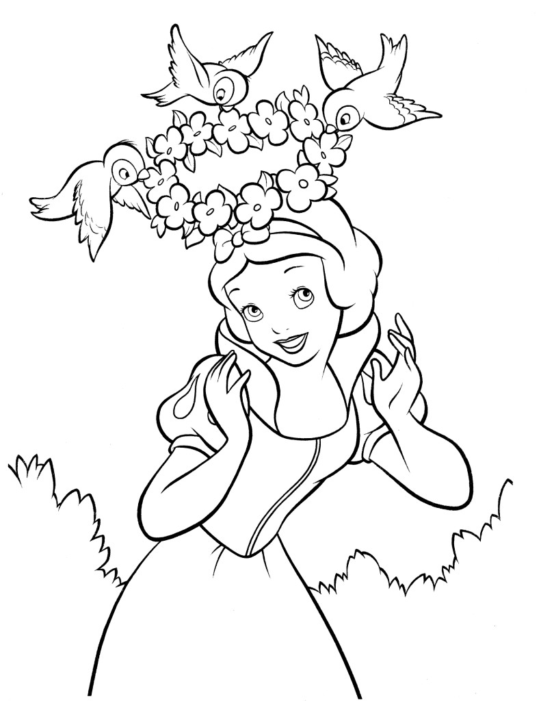 snow white pictures coloring u2013 free printables