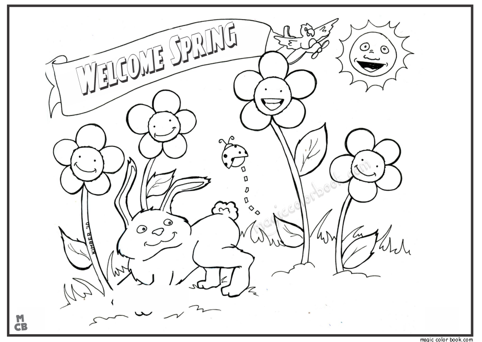 spring break coloring pages - photo#31