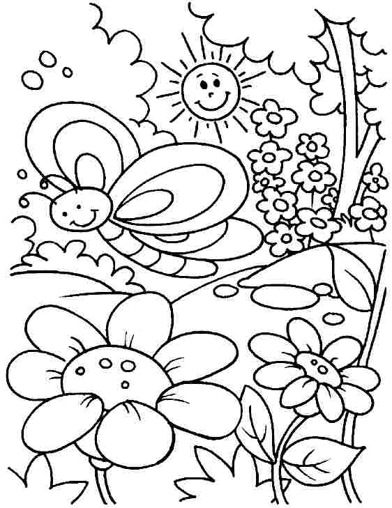 pictura coloring nature pages - photo#33