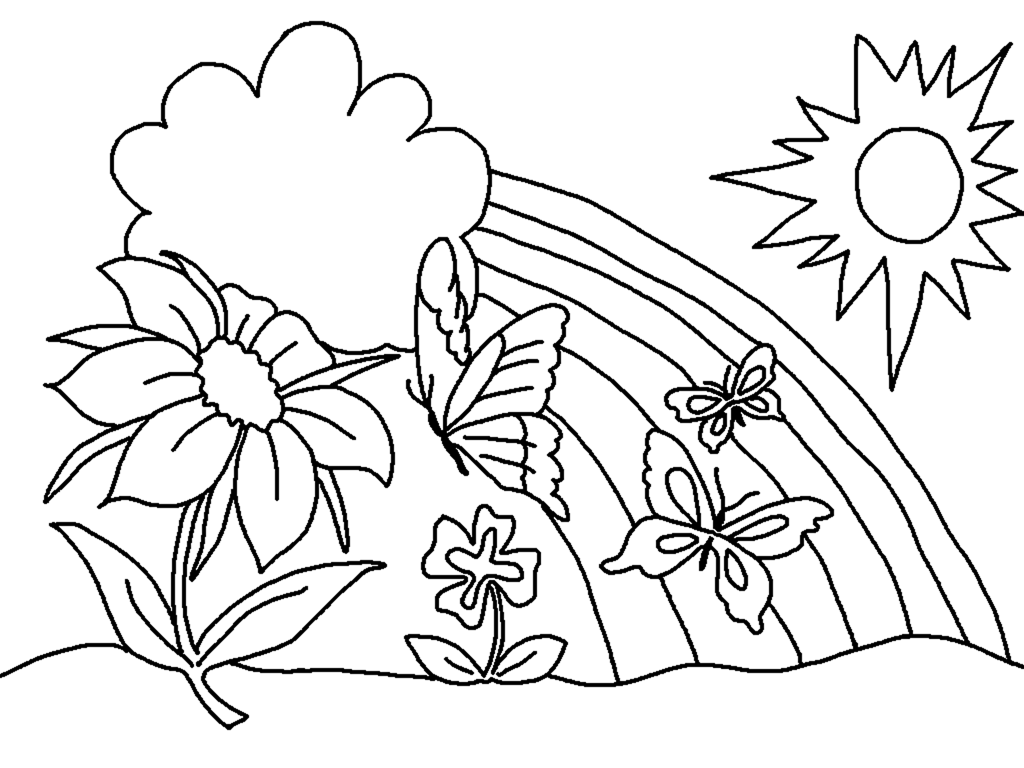 beautiful rainbow coloring page