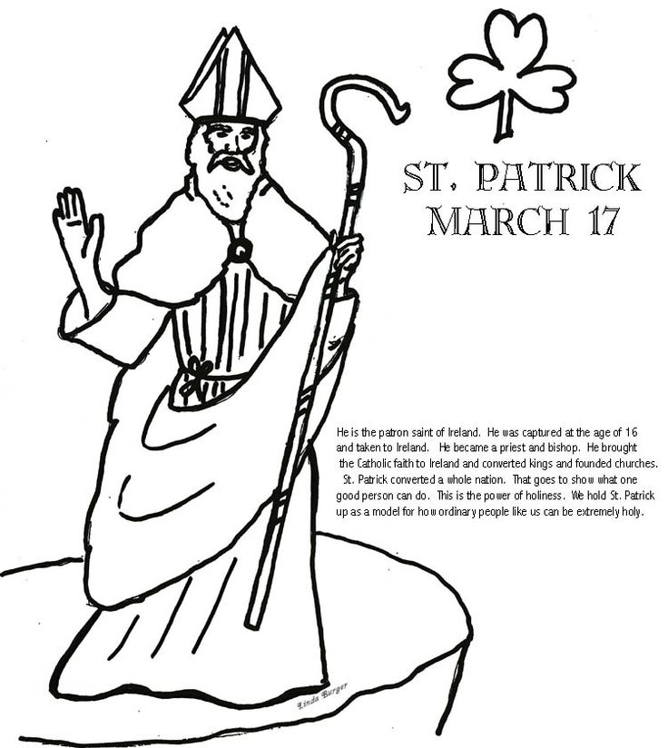 Perceive the saintly feast of St Patrick 18 St Patrick coloring