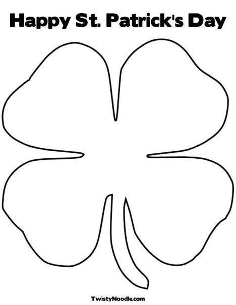 Shamrocks Coloring Pages Printable - Coloring Page