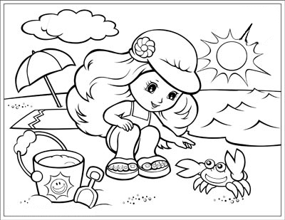 Summer Season Coloring Pages Jack Free Printables