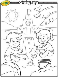 Summer Season Coloring Pages Layla Free Printables