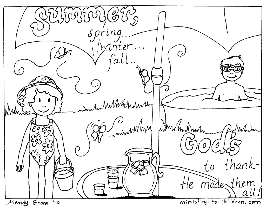 Spring Christian Coloring Pages