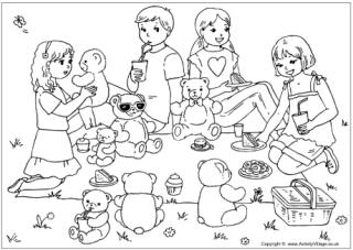 Summer season coloring page