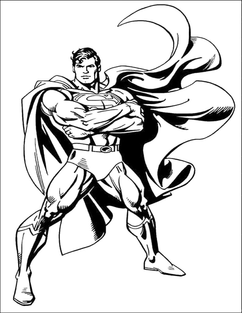 Superman Coloring Pages Pdf : Superman sketch printable free printables