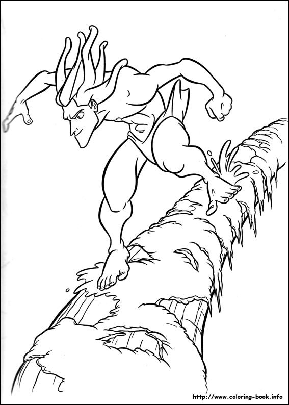 Tarzan on a rush coloring page
