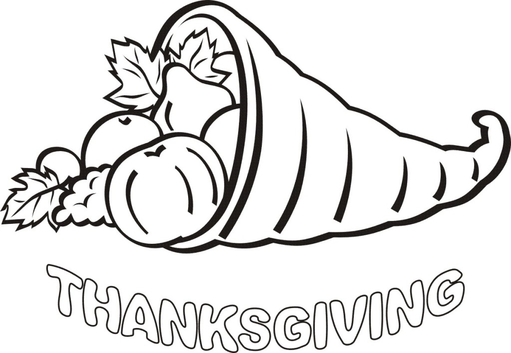 Thanksgiving day fruits coloring page
