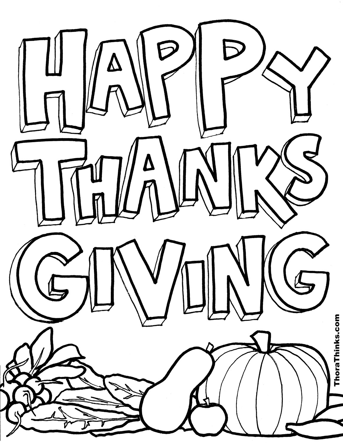 Thanksgiving Coloring Pages | 1500x1161